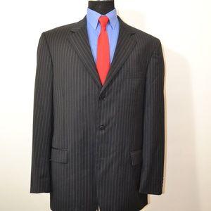 Fumagalli 46L Sport Coat Blazer Suit Jacket Black
